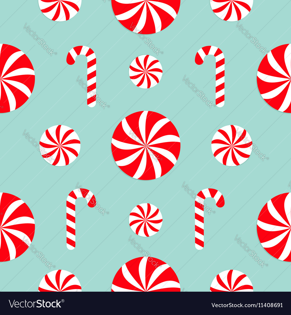 Seamless Pattern Decoration Christmas Candy Cane