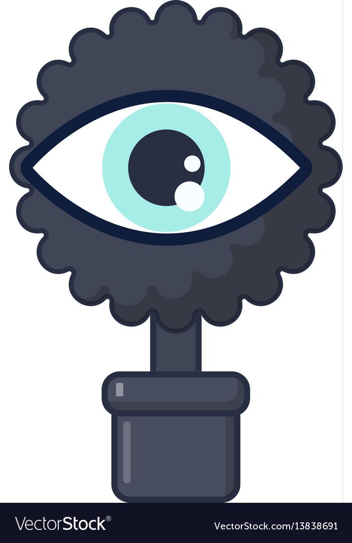 Spy eye icon cartoon style vector image