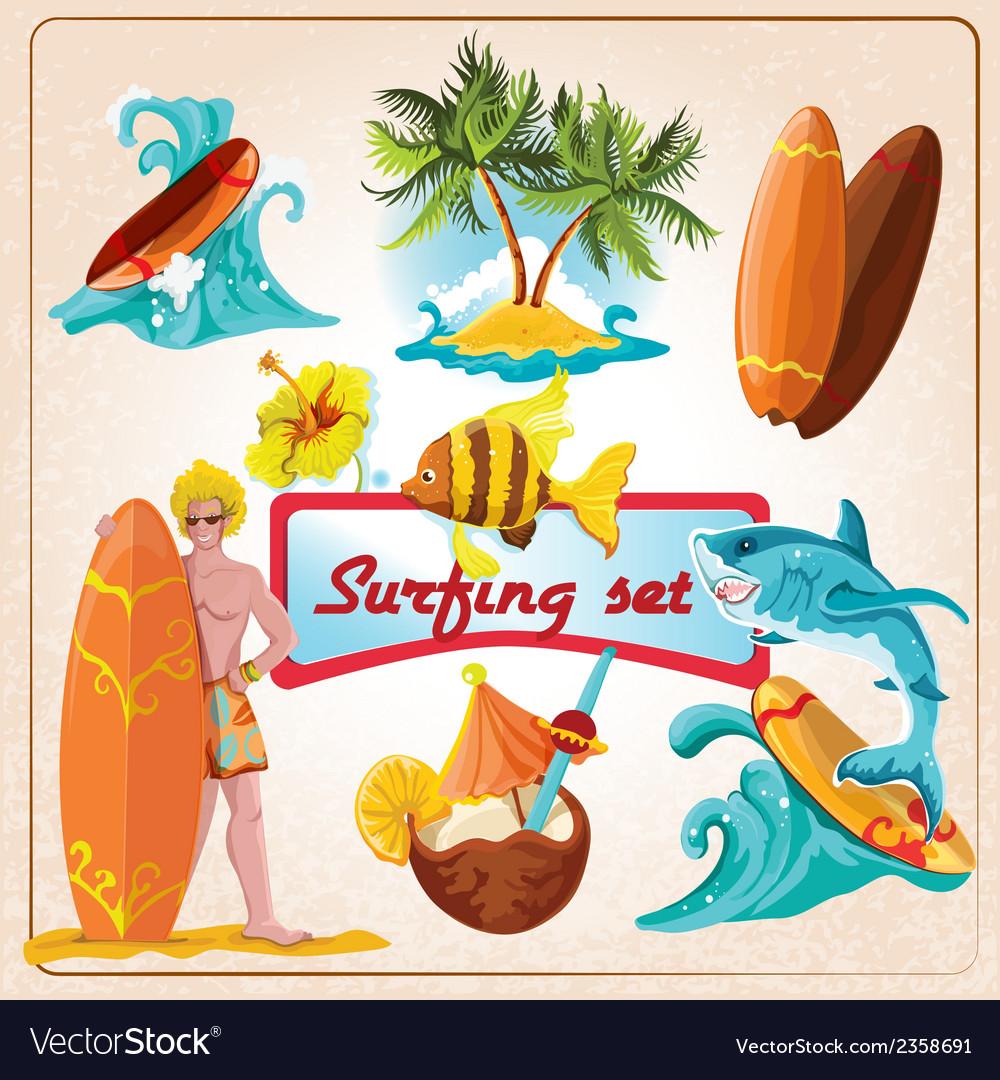 Surfing elements set