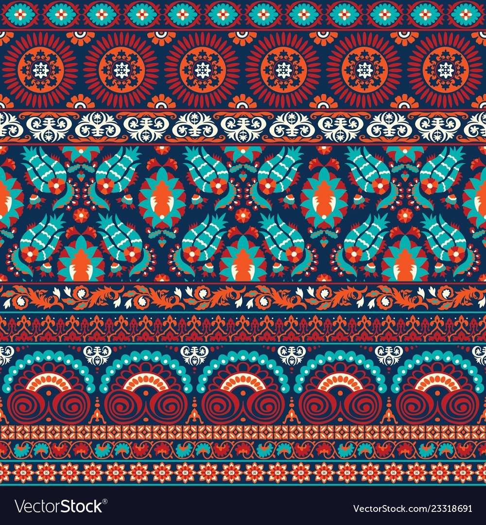 Suzani style antique rug motifs patchwork