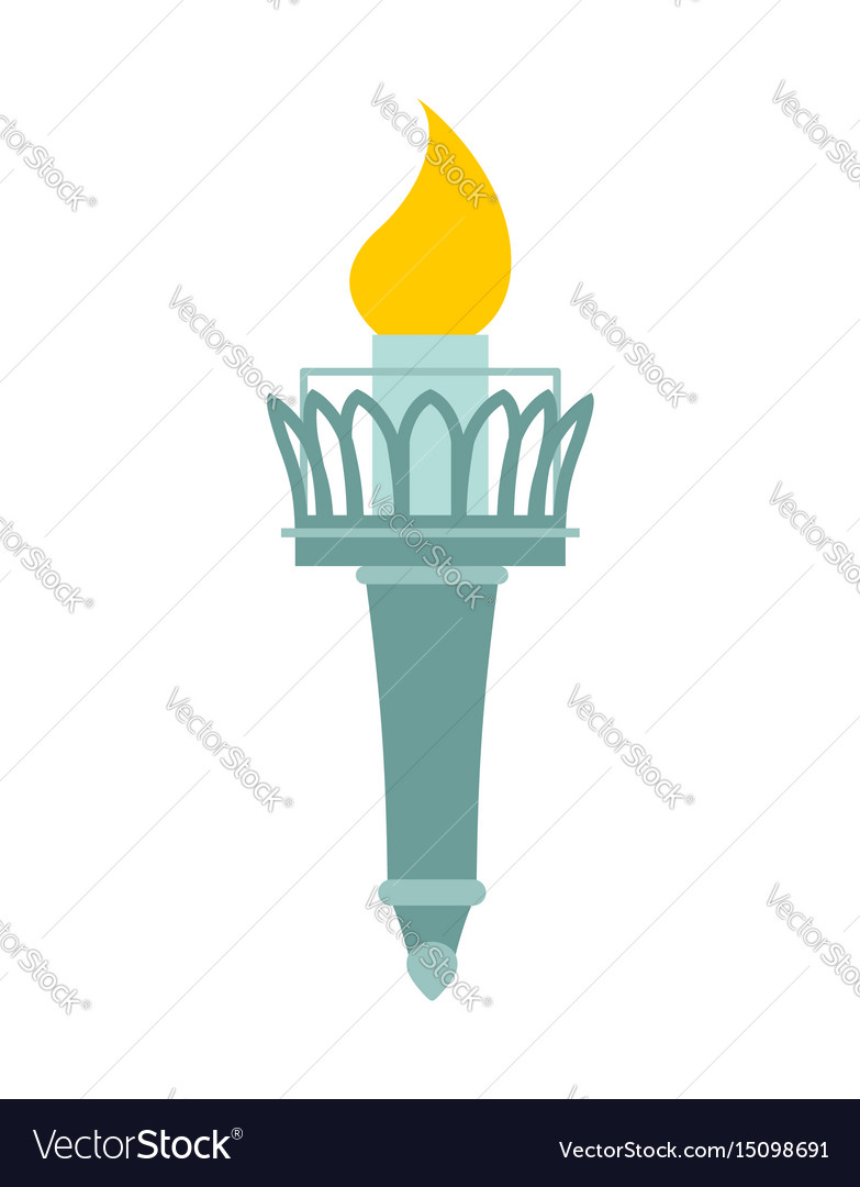 Torch of statue of liberty lighthouse for ships