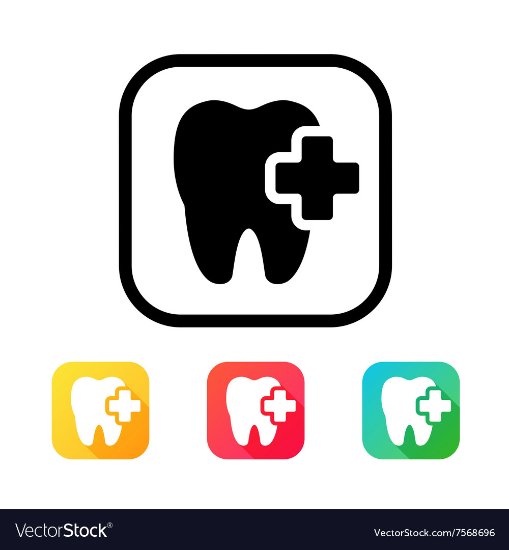 Dental icon in flat style