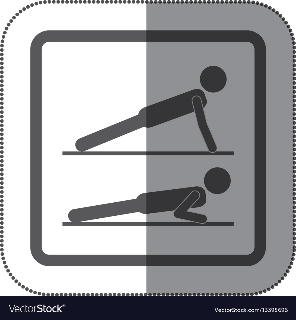 Person doing planks icon vector image