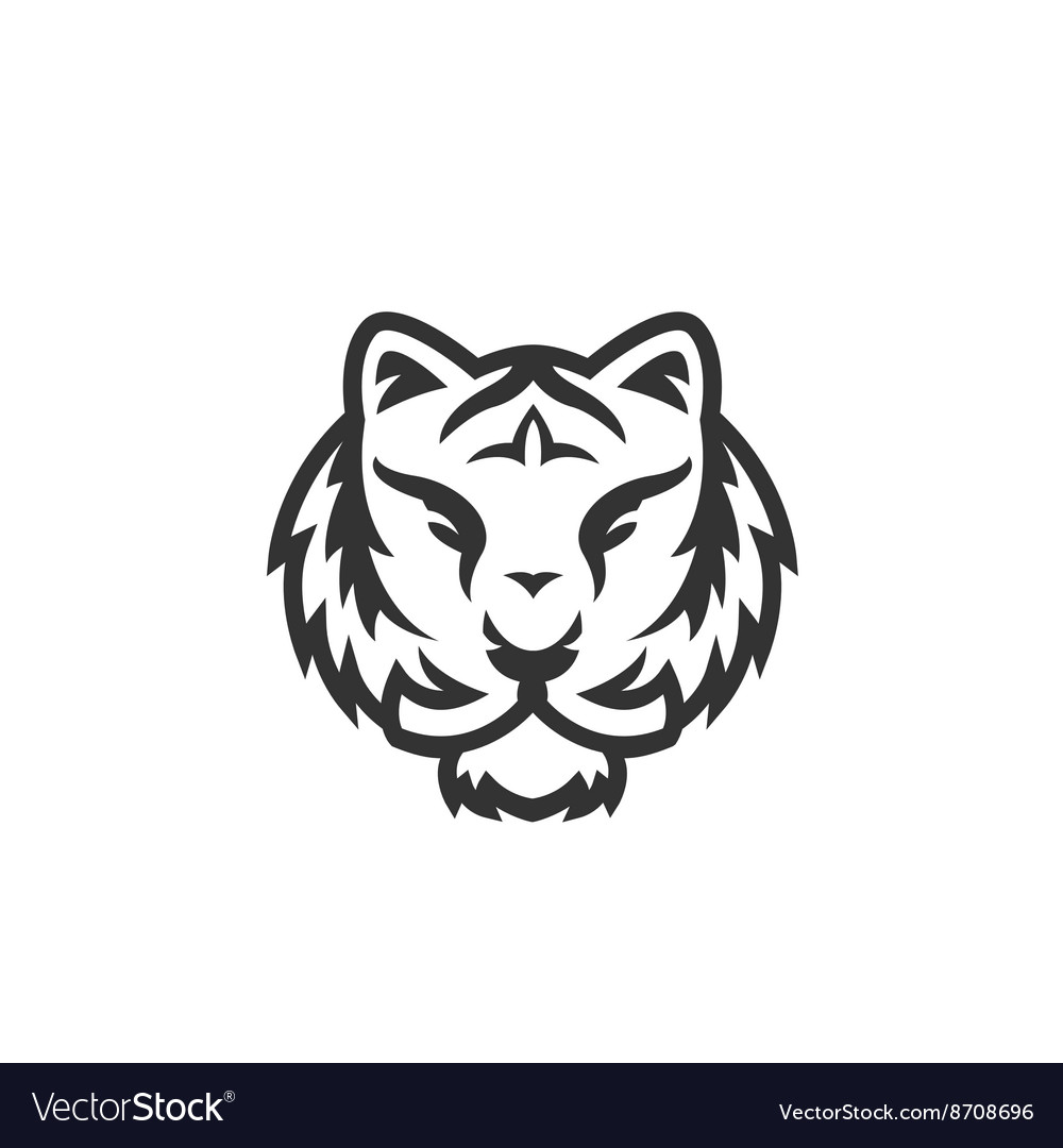 tiger logo on white background royalty free vector image vectorstock
