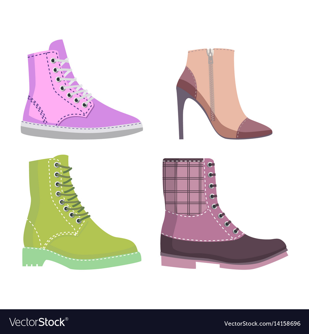 Winter and autmn female shoes set of
