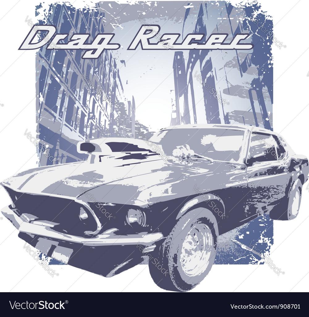 Drag Racer vector image