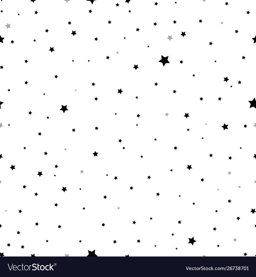 Falling stars seamless pattern scandinavian