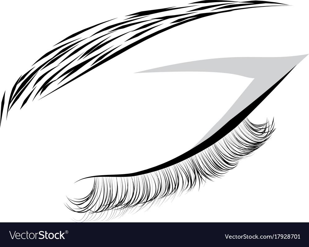 Female closed eye drawing