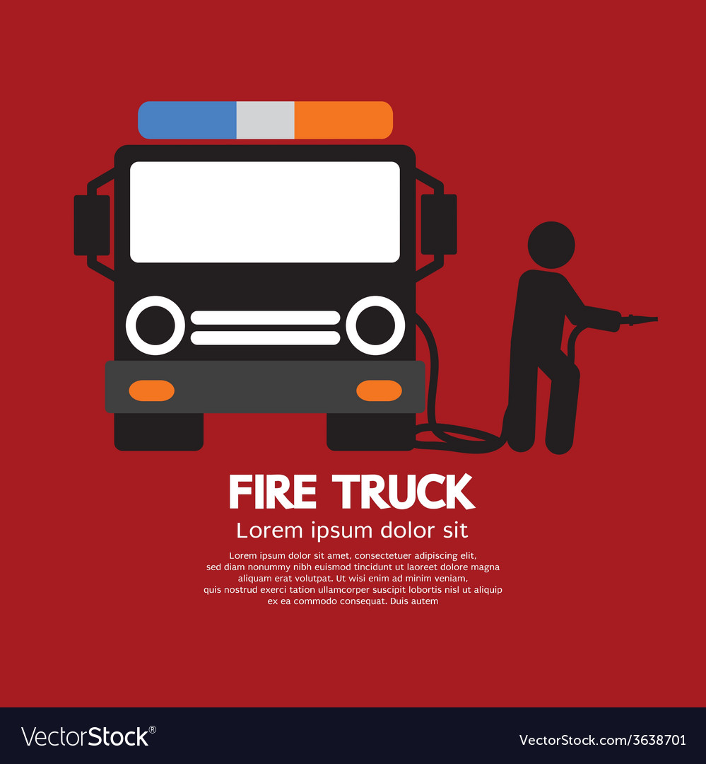 Fire Truck With A Man