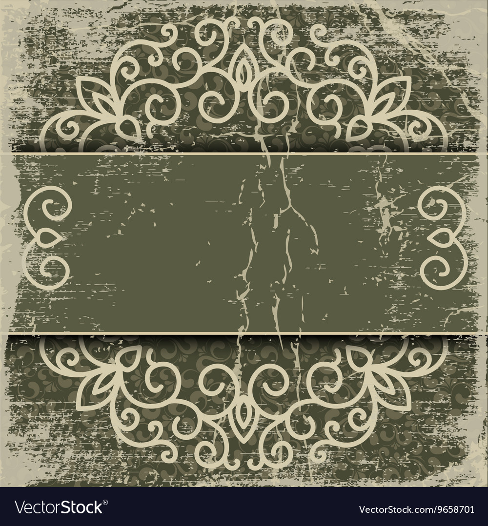 Old paper pattern vintage background