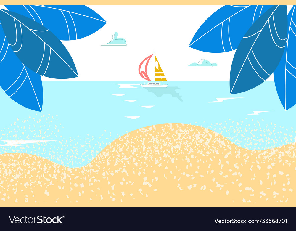Summer rest sea landscape paradise sandy shore