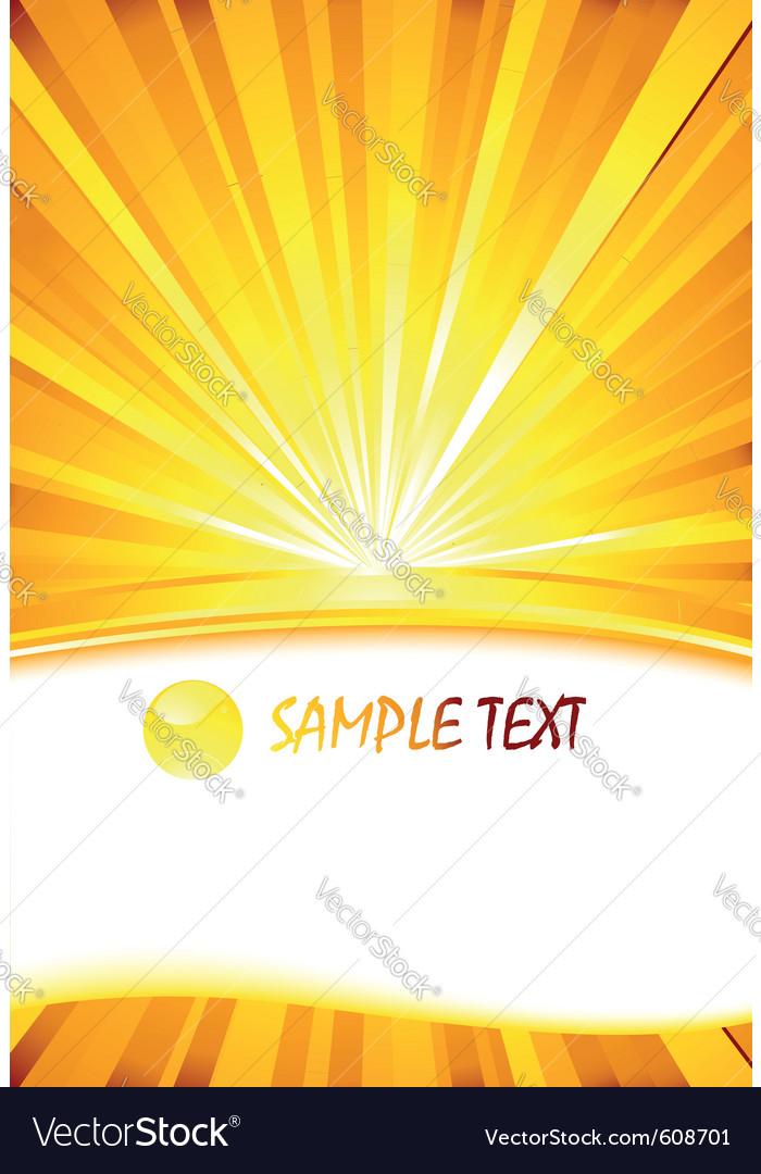 Sunburst card template