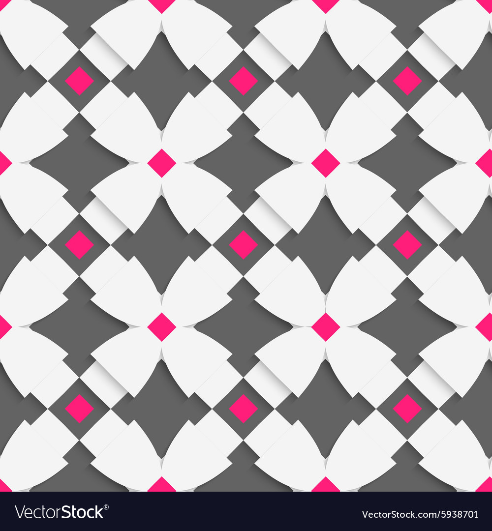 White geometrical ornament with white crosses and