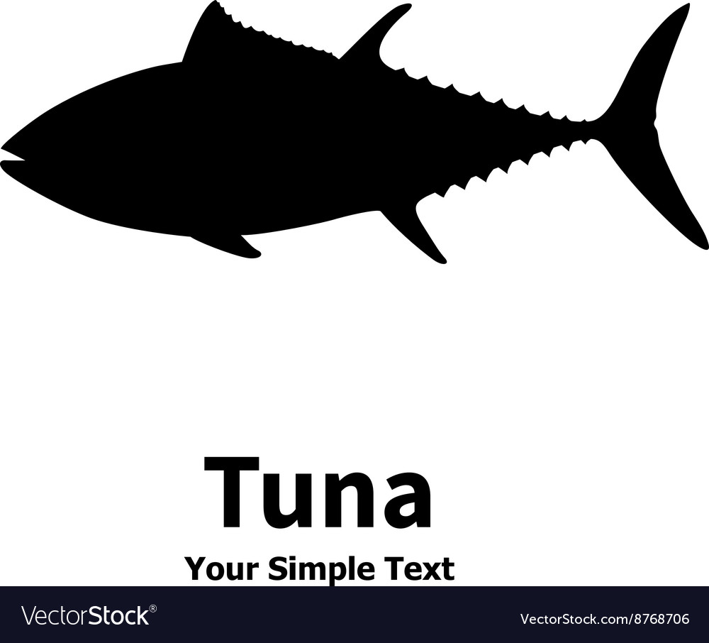 a silhouette of a tuna royalty free vector image