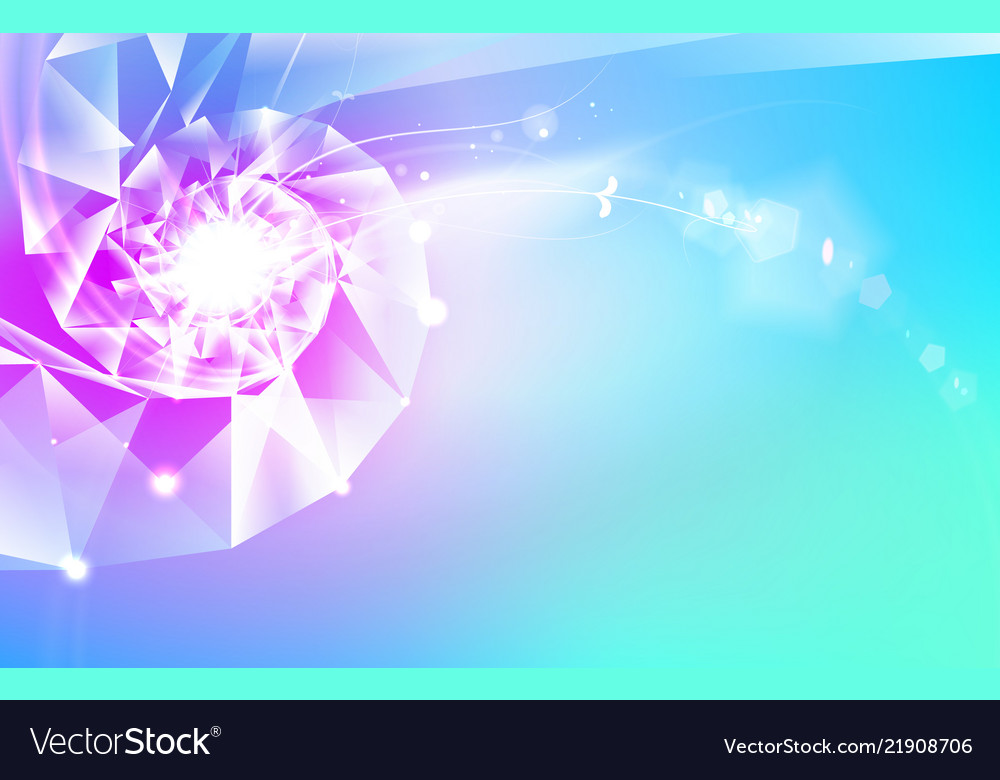 Abstract science design with polygons and