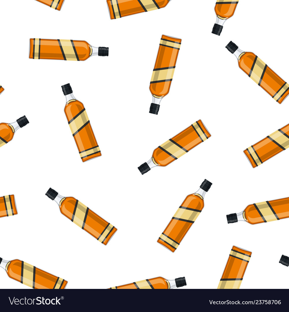Bottle of bourbon whiskey