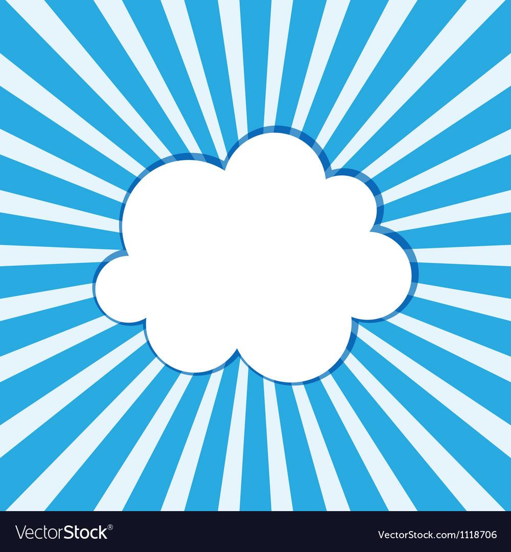 Cloud frame Royalty Free Vector Image - VectorStock