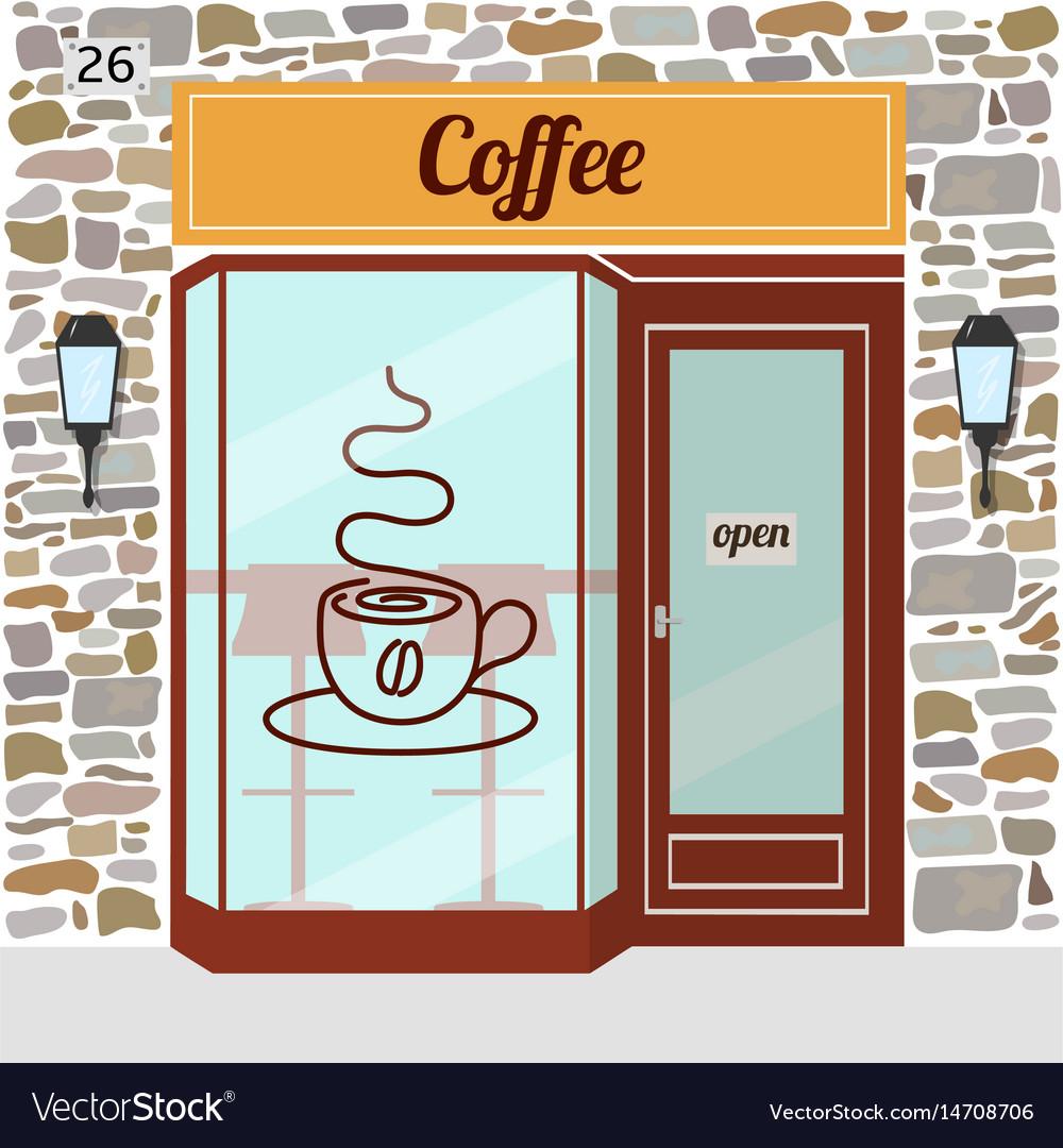 Coffee shop facade vector image