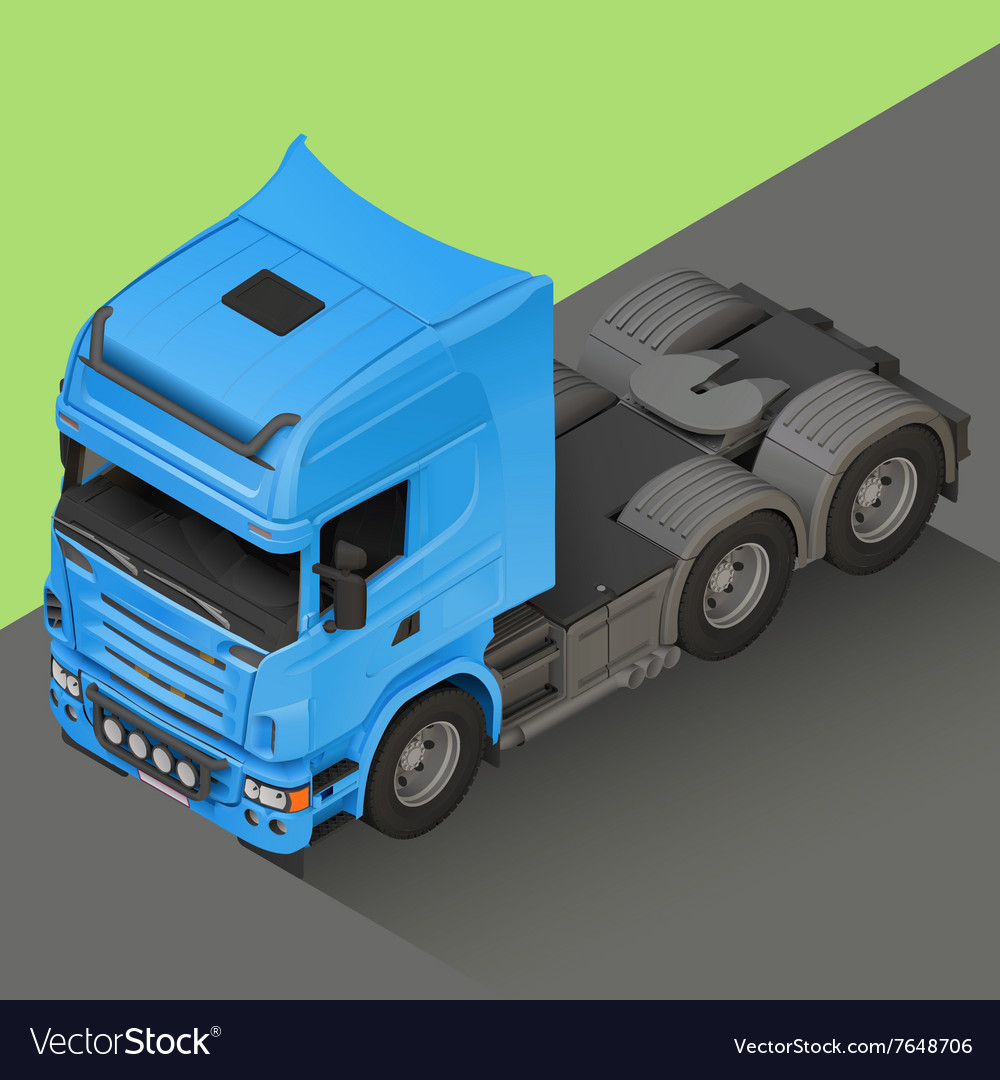 Delivery Cargo isometric Truck