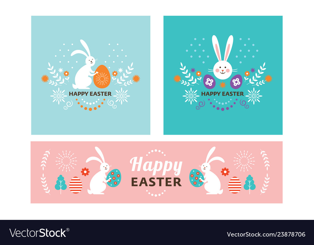 Easter banner set