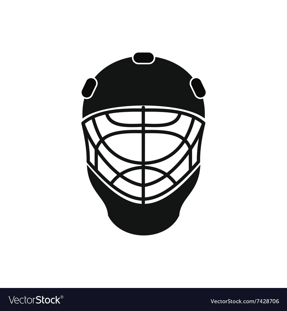 Goalkeeper Hockey Helmet Icon Royalty Free Vector Image