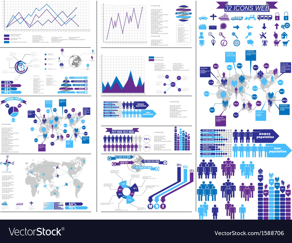 INFOGRAPHIC PURPLE vector image
