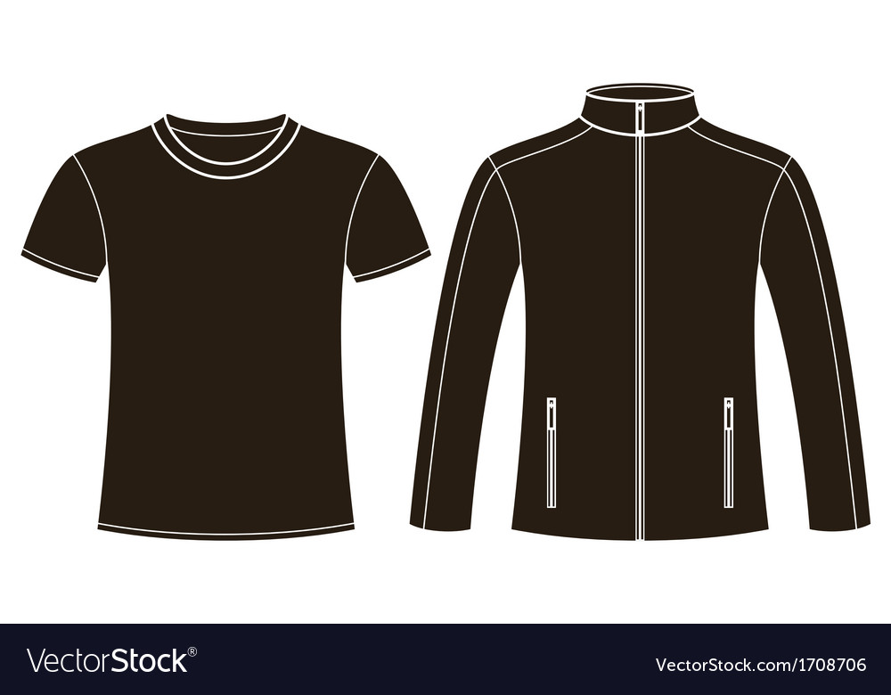 Jacket and T-shirt template vector image