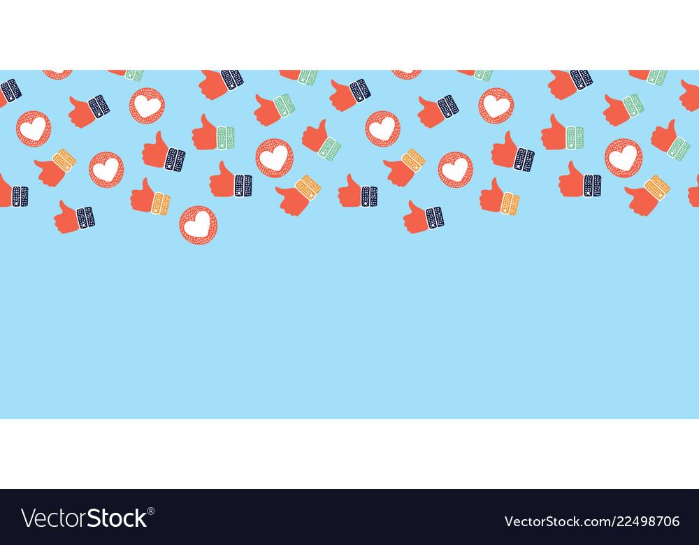Like and heart icons background