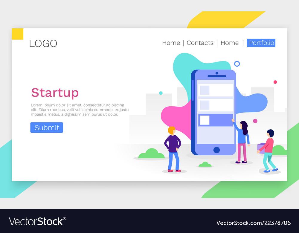 Modern flat design concept of app development for