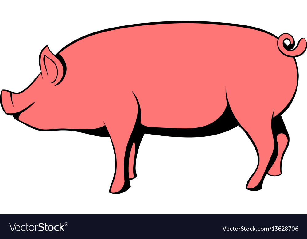Pig icon cartoon