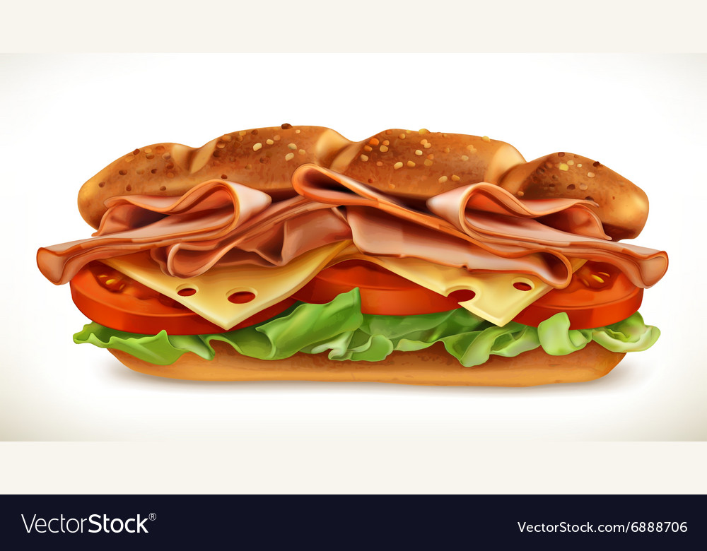 Sandwich with meat and cheese