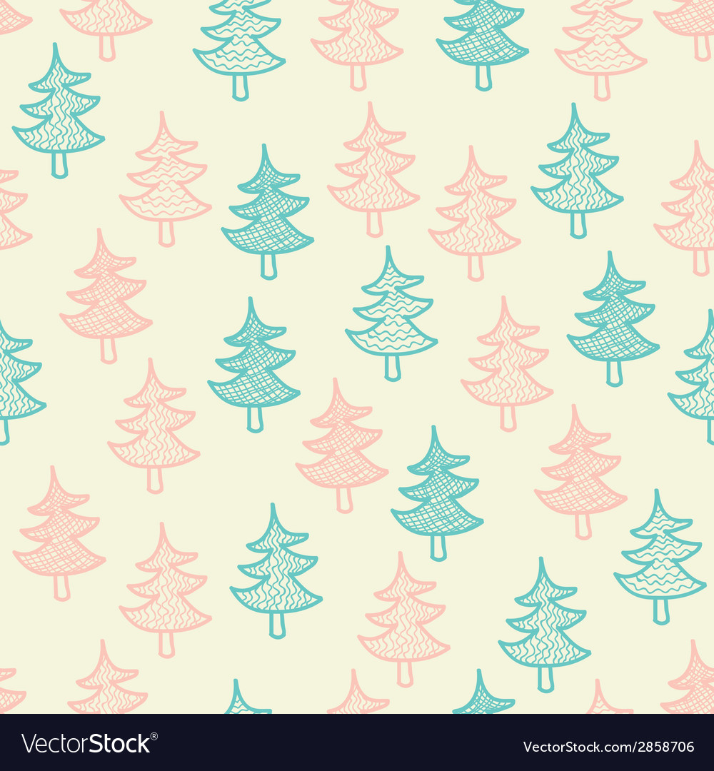 Seamless texture with Christmas trees
