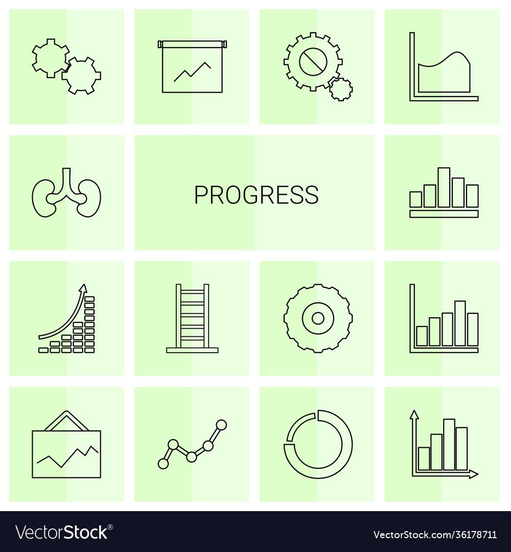 14 progress icons