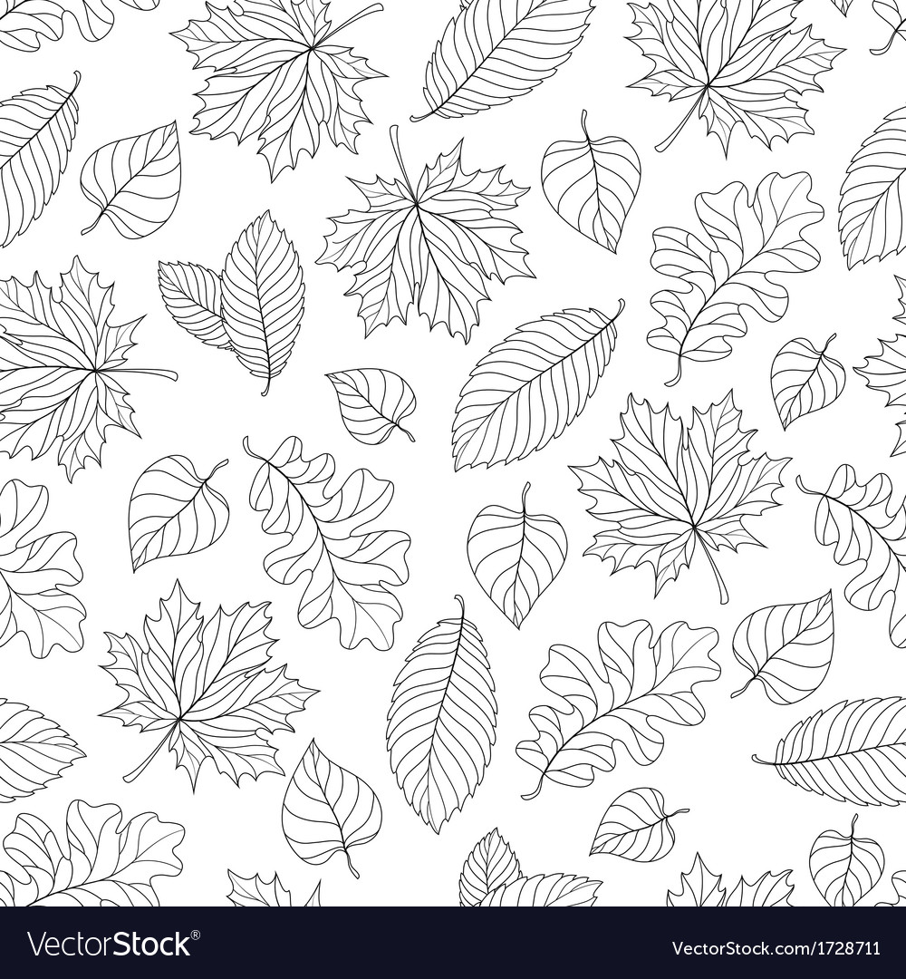 autumn leaves pattern royalty free vector image