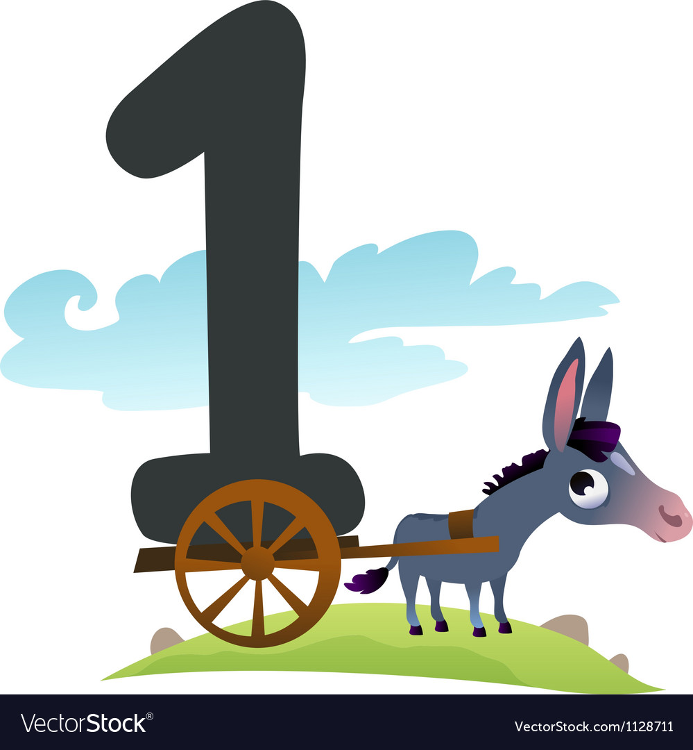Collection number for kids farm animals - number 1