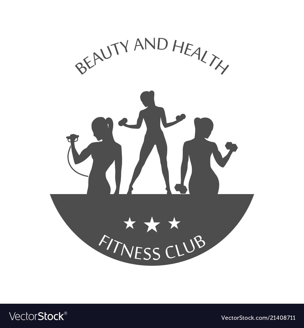 Fitness club logotype sport style