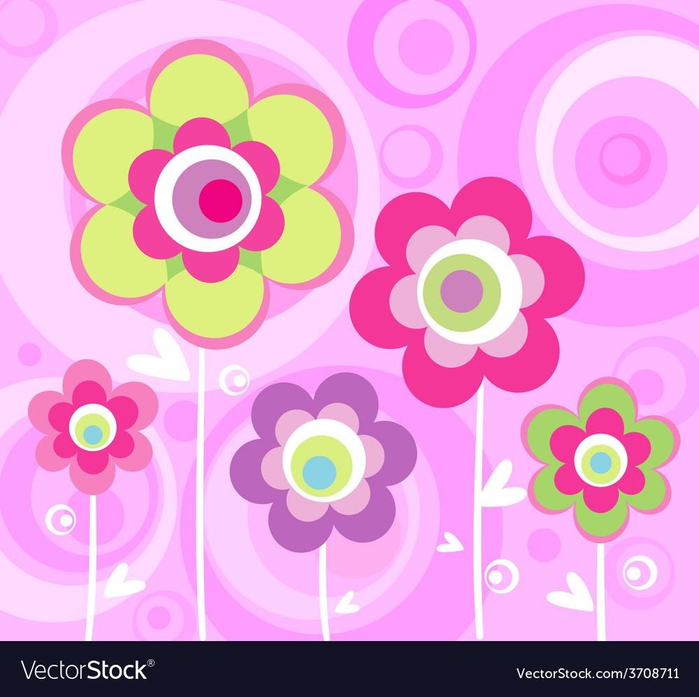 Floral pink ornament