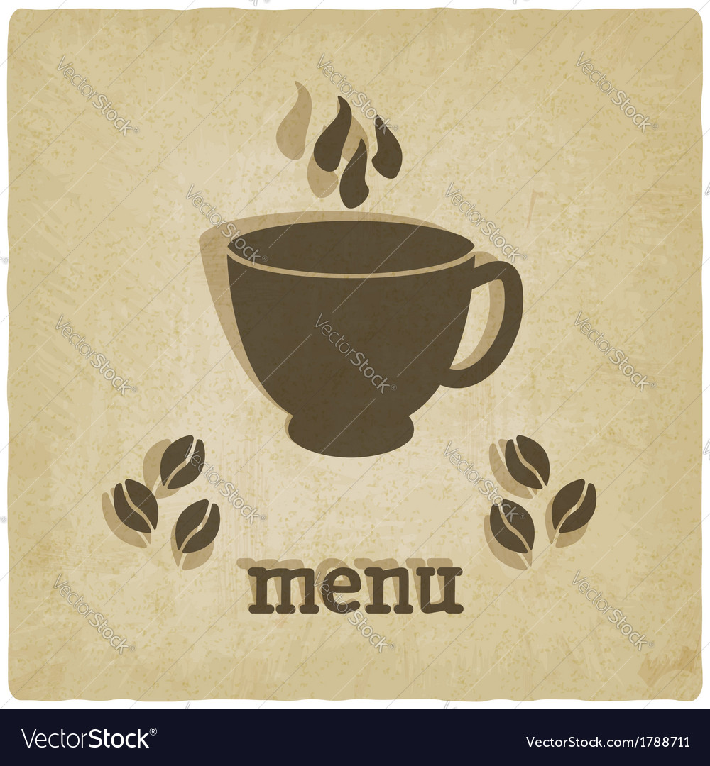 Old background with coffee