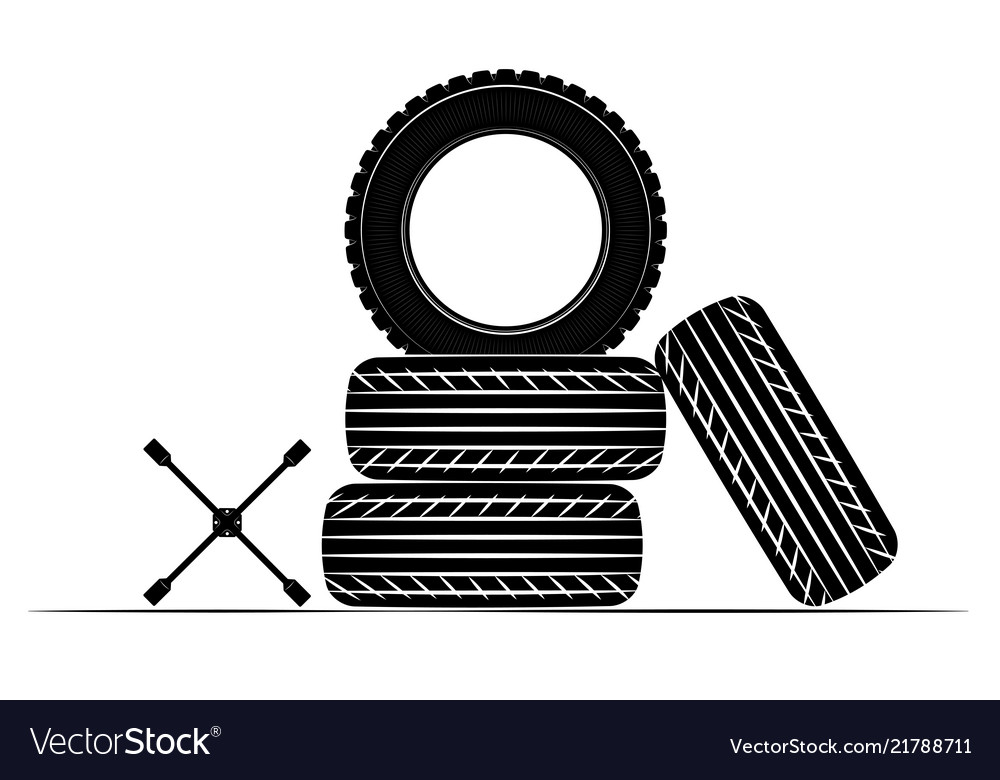 Wheels and tires are black for a logo or emblem