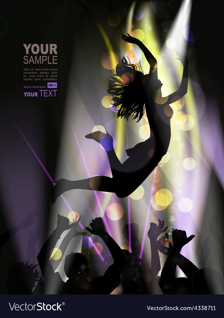 Woman dancing in club vector image
