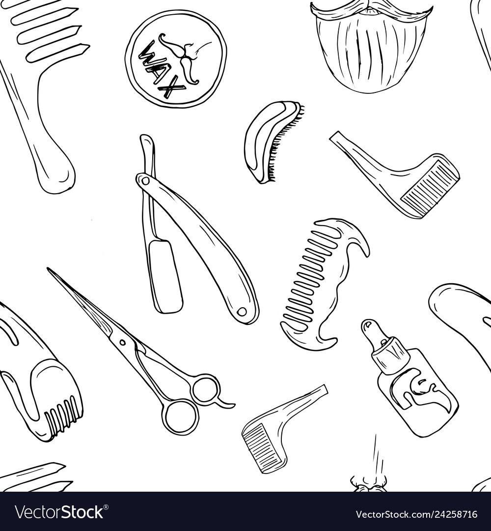 Barbery shop hand drawn