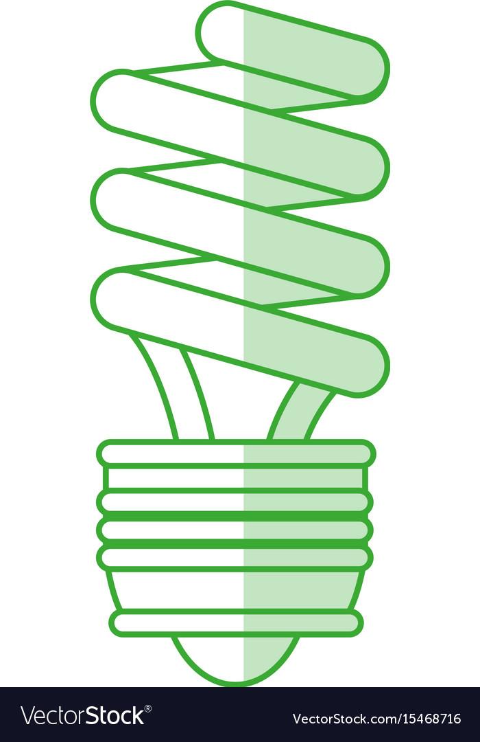 Compact fluorescent lamp design vector image