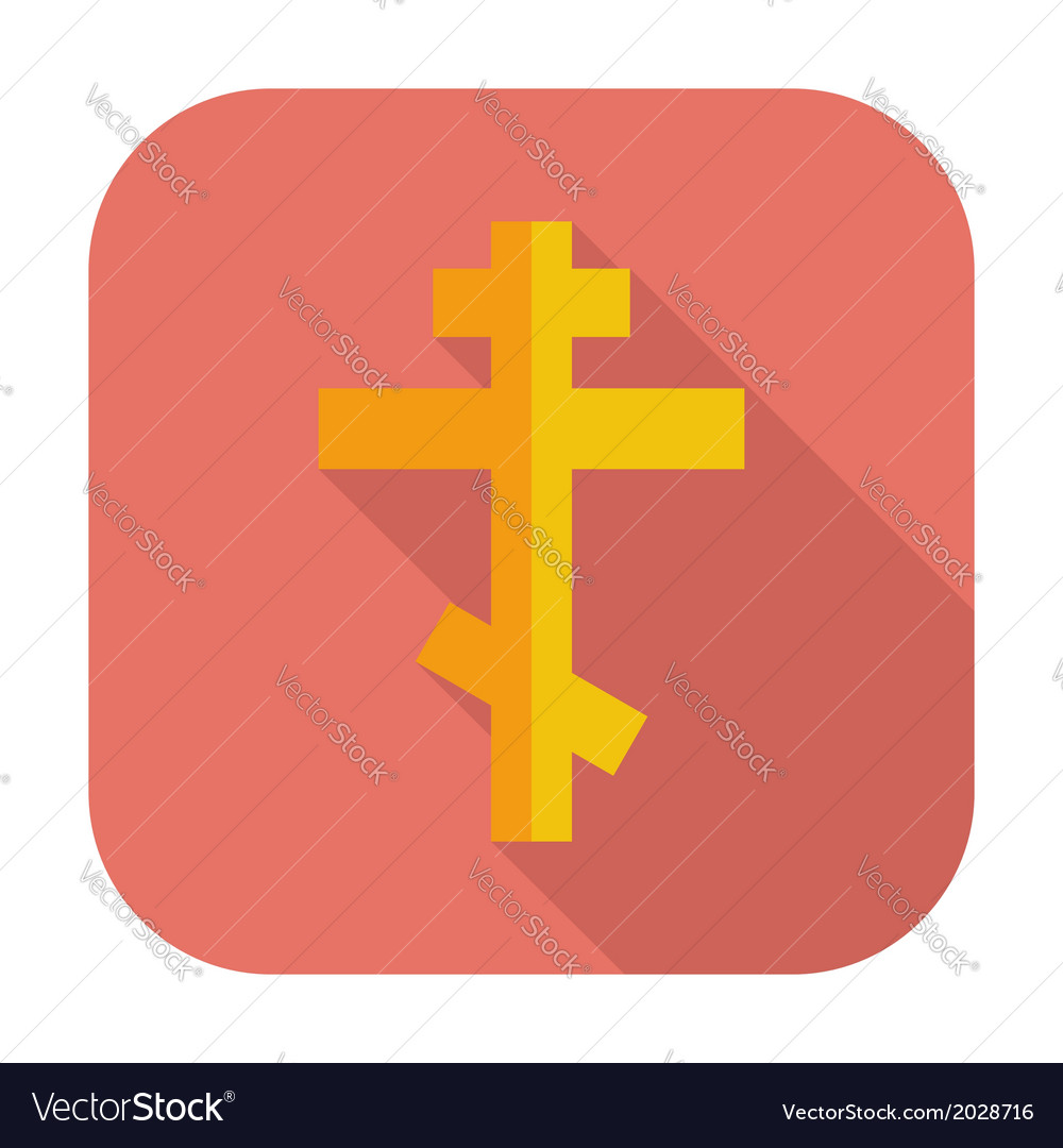 Cross single flat icon