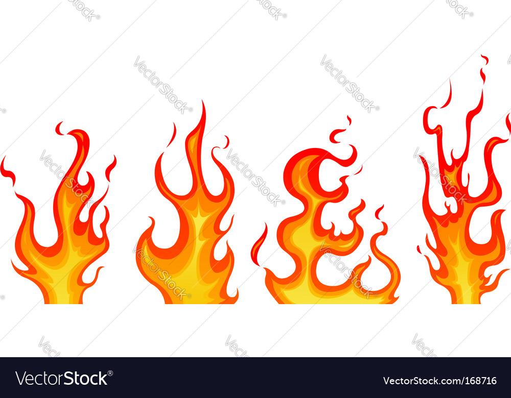 flames royalty free vector image vectorstock rh vectorstock com flame vector art flames victoria park