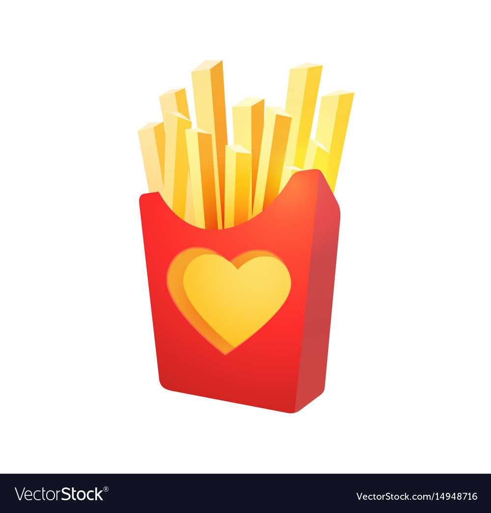 French fries in red carton box