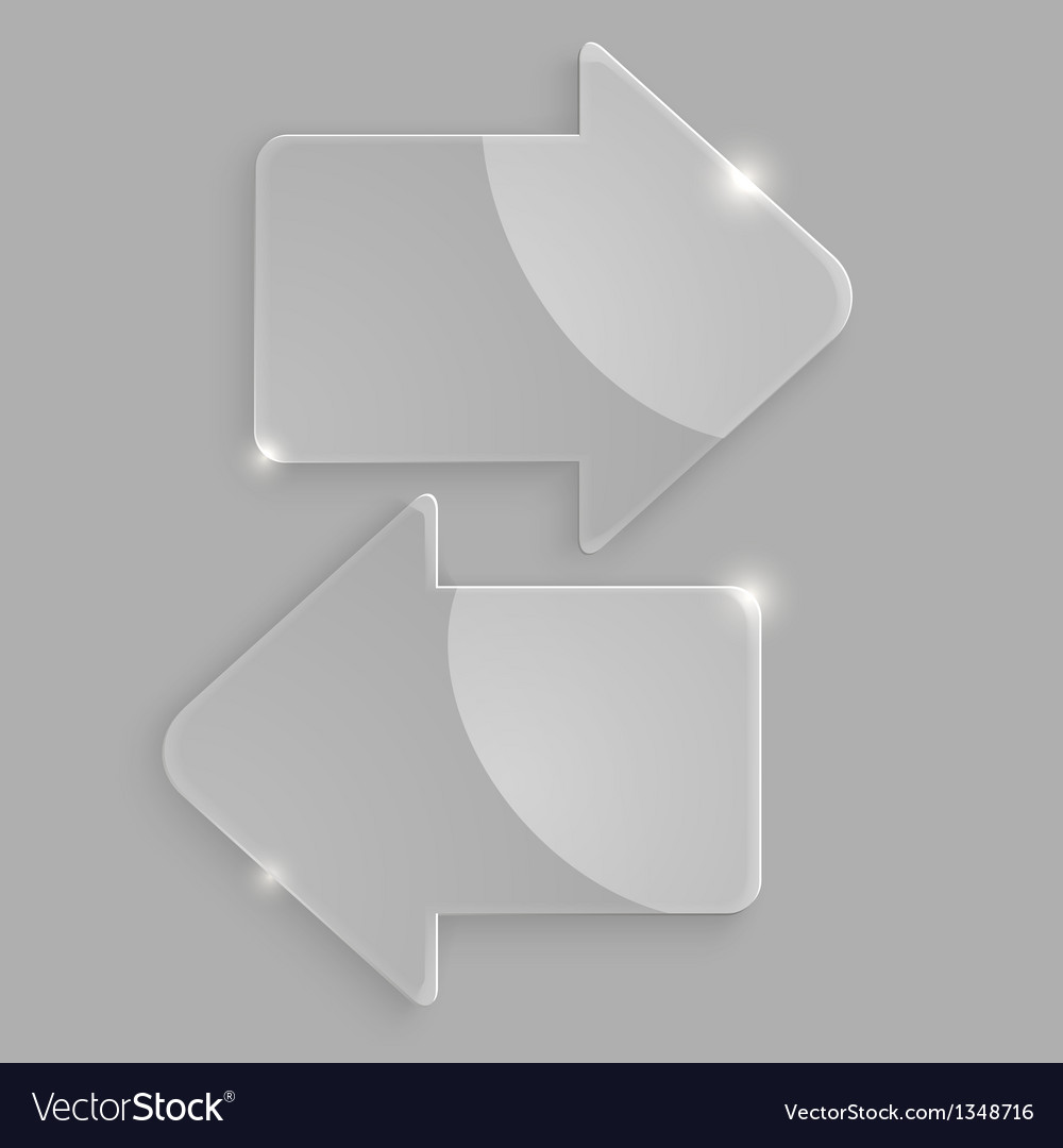 Glass arrows icons