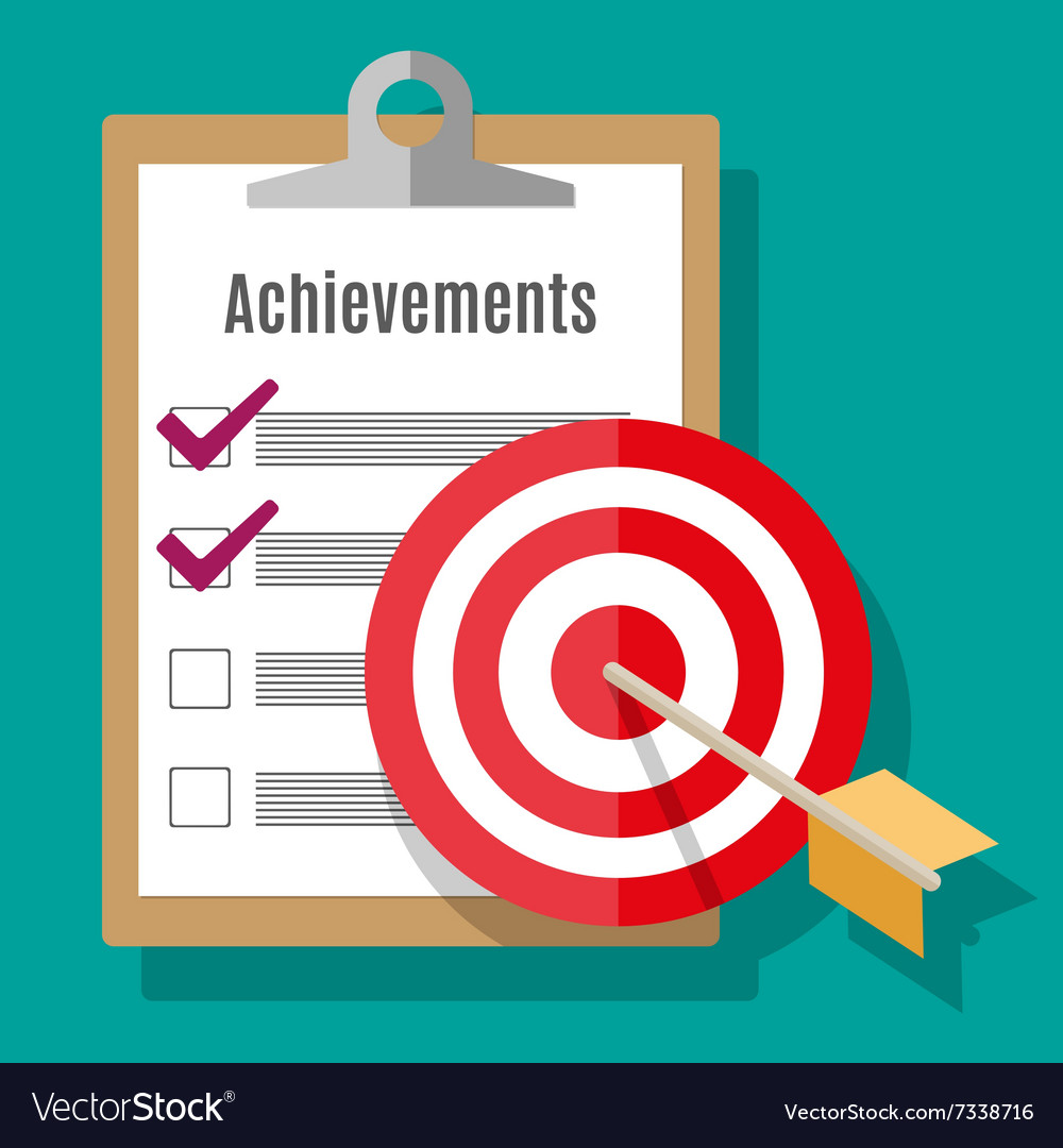 Goal Achievement Concept In Flat Style Vector Image