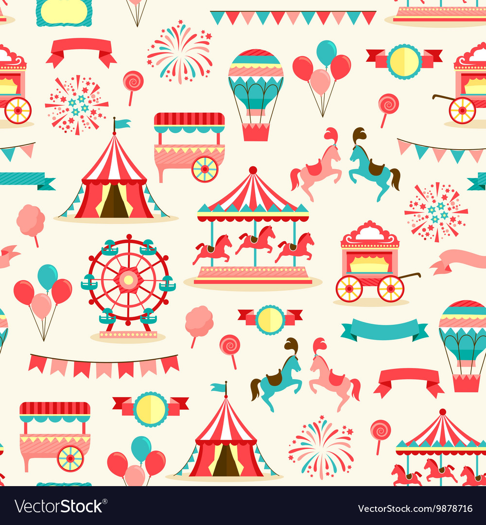 Seamless pattern - vintage carnival