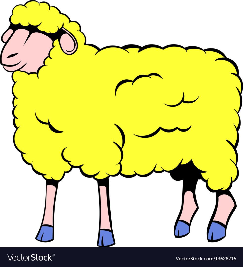 Sheep icon cartoon
