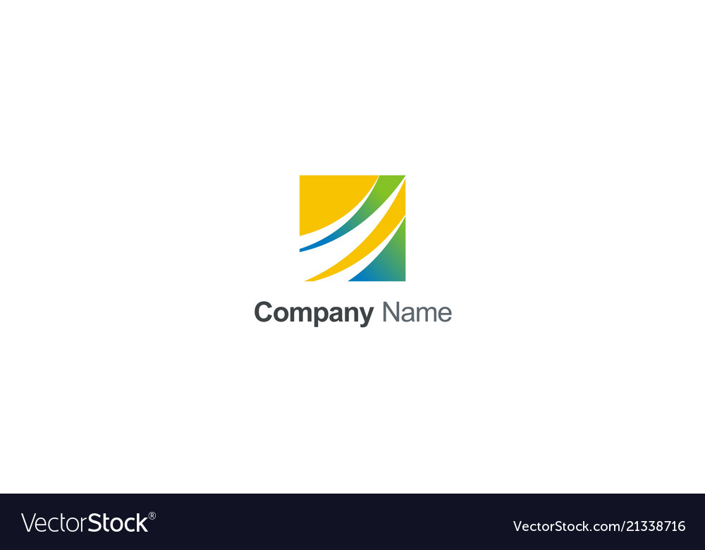 Square loop colored business logo